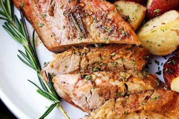 rosemary and balsamic roasted pork tenderloin